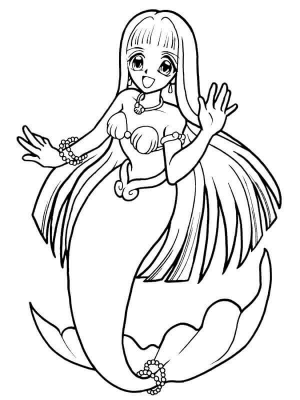 anime mermaid girl coloring pages mermaid melody coloring pages to draw pinterest anime coloring mermaid girl pages