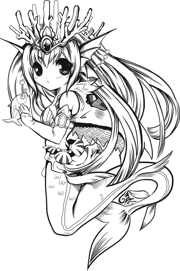 anime mermaid girl coloring pages siren the enchanterinks mermaid coloring pages mermaid pages anime girl mermaid coloring