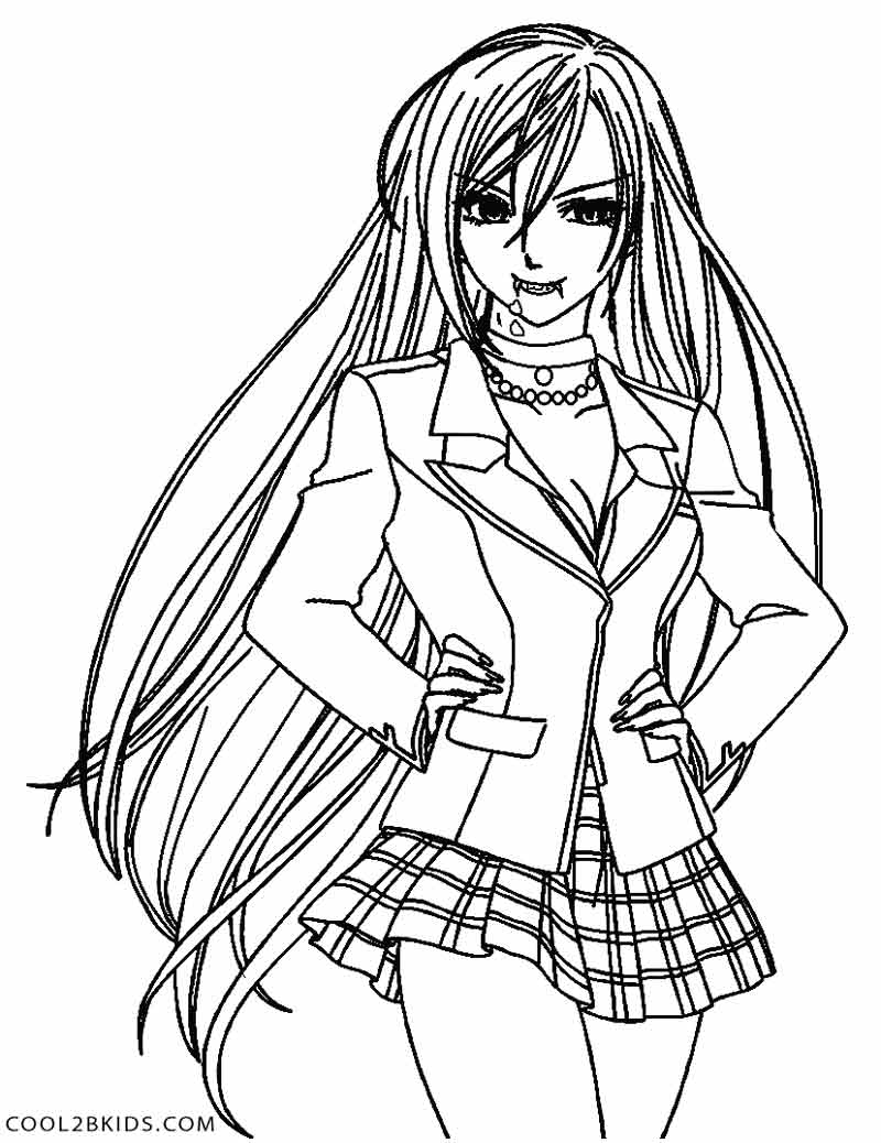 anime vampire coloring pages anime vampire girl coloring pages coloring home pages vampire coloring anime