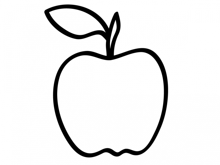 apple pictures to color apple outline coloring page coloring home apple pictures color to