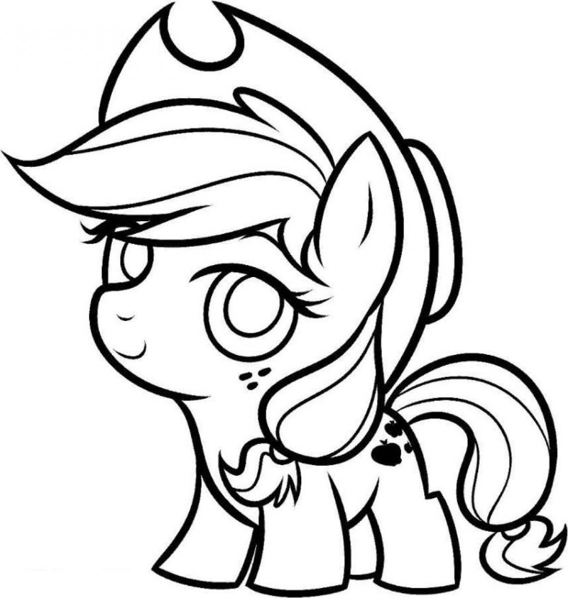 applejack coloring pages baby applejack my little pony coloring cute coloring coloring applejack pages