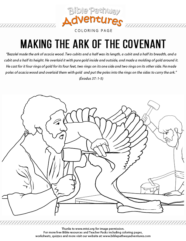 ark of the covenant coloring page ark of the covenant coloring page bible crafts preschool of the coloring ark covenant page