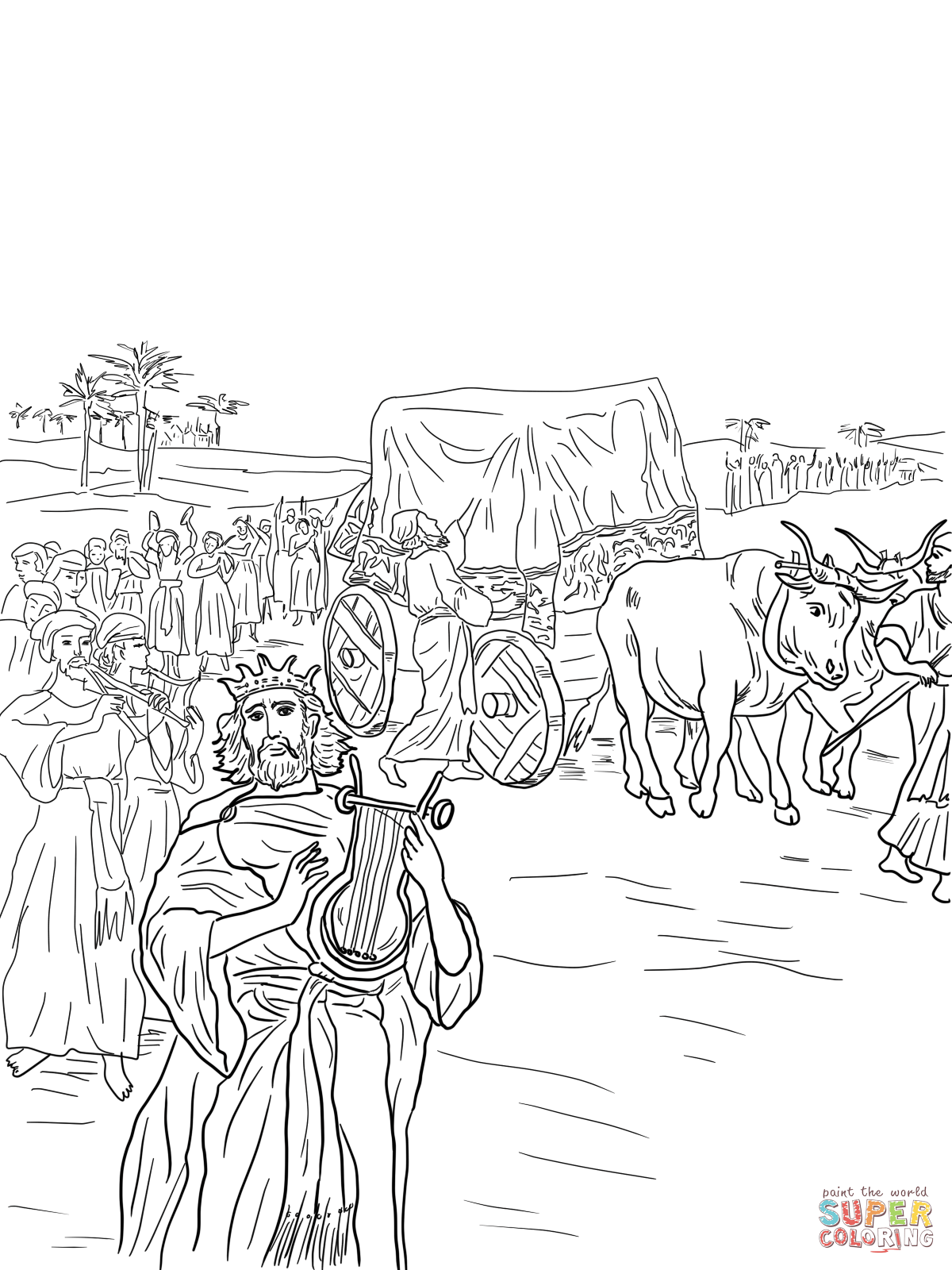 ark of the covenant coloring page the priests came up out of the river carrying the ark of the covenant page coloring ark of