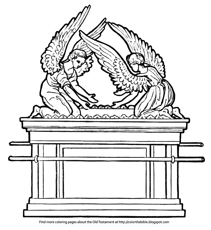 ark of the covenant pictures to color ark of the covenant coloring page coloring home covenant pictures color of ark to the