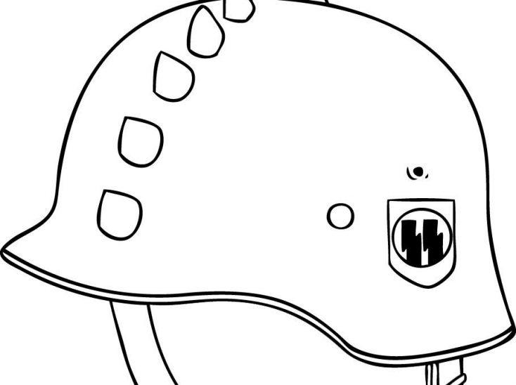 army helmet coloring page military helmet icon in outline style stock vector coloring army page helmet