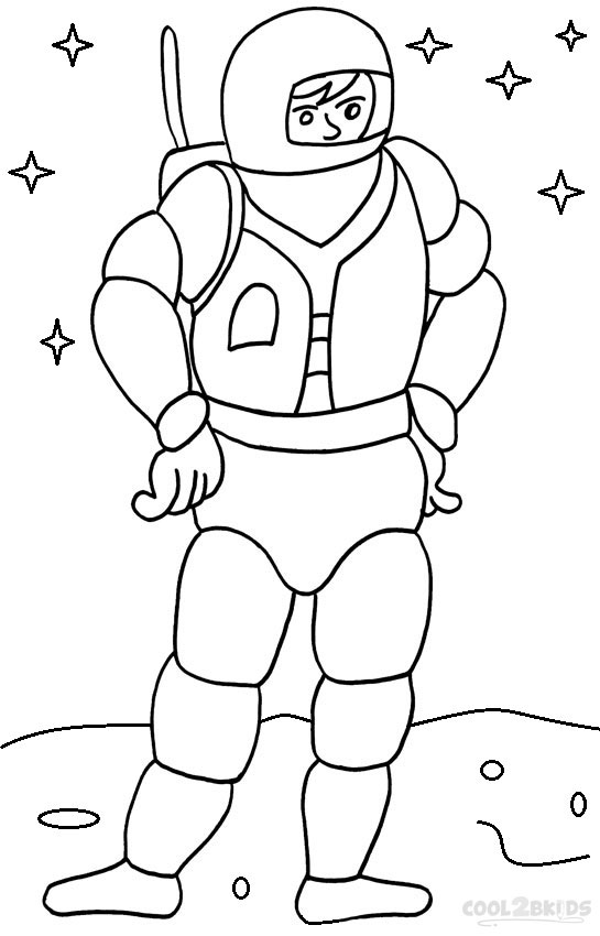 astronaut for coloring astronaut in the space coloring pages for kids printable for coloring astronaut
