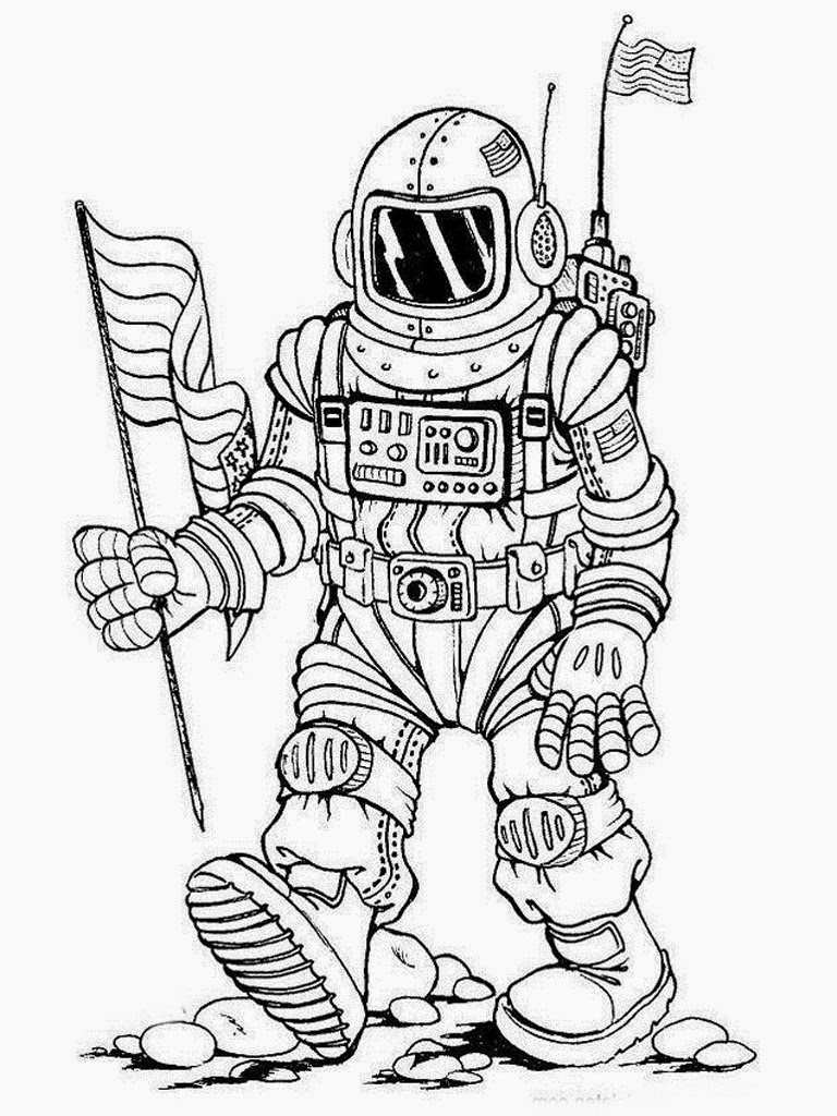 astronaut for coloring free printable space astronauts pdf coloring page for coloring astronaut