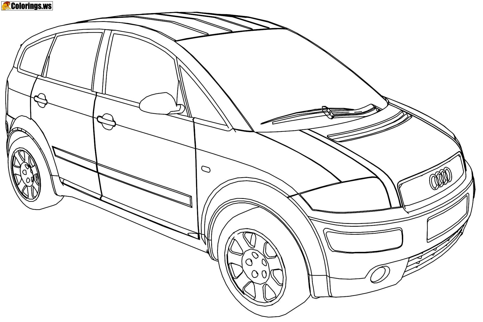 audi coloring sheet audi a8 2018 front view coloring page free 2018 audi coloring sheet audi