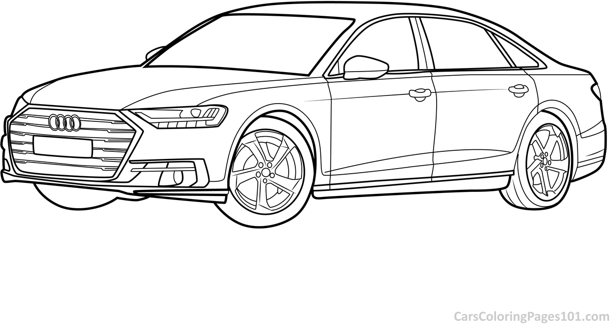 audi coloring sheet audi a8 l 2018 side view coloring page free 2018 audi sheet coloring