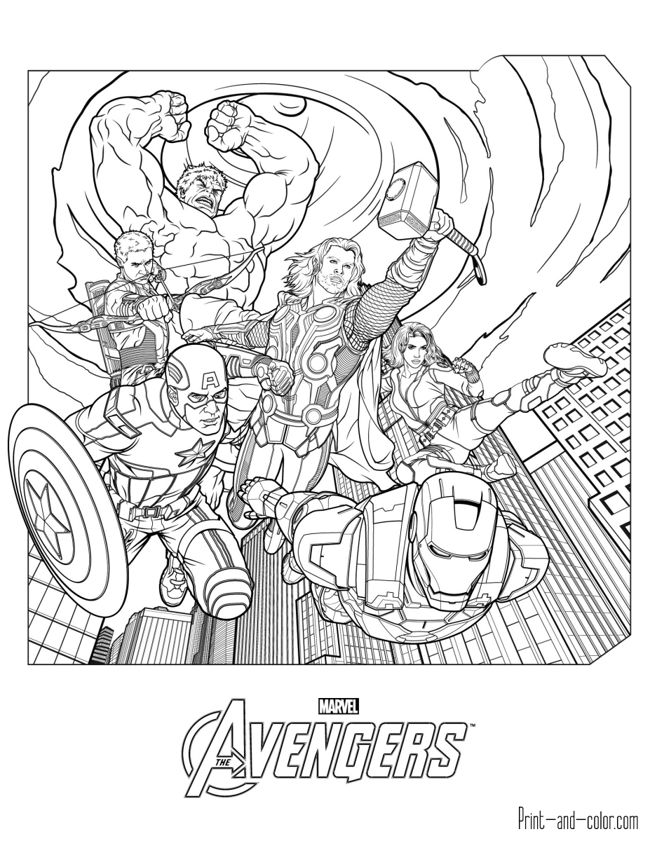 avengers for coloring awesome avengers team coloring page free printable for coloring avengers