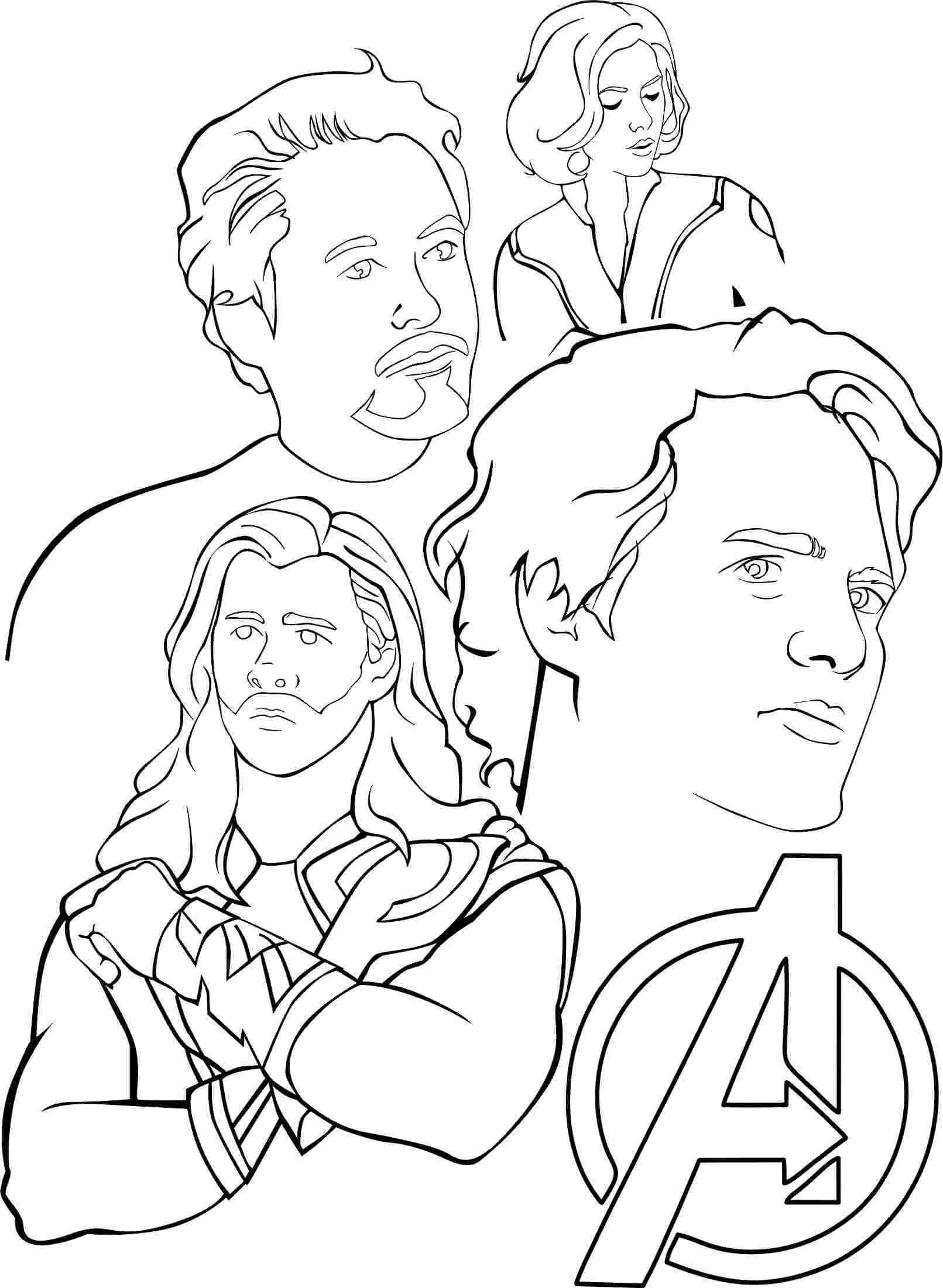 avengers for coloring printable avengers coloring pages kids adults pdf for coloring avengers
