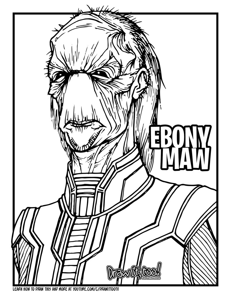 avengers infinity war coloring book how to draw ebony maw avengers infinity war drawing infinity book avengers coloring war
