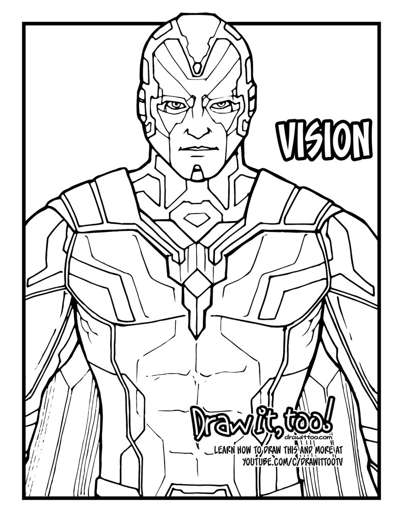 avengers infinity war coloring book how to draw vision avengers infinity war drawing coloring infinity book war avengers