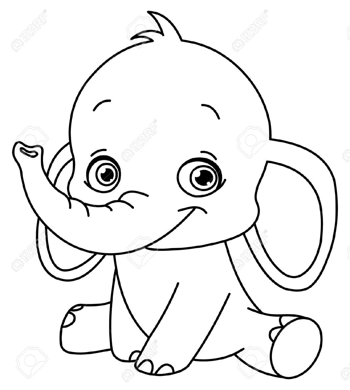 baby animal outlines cartoon drawing of elephant google search elephant outlines animal baby