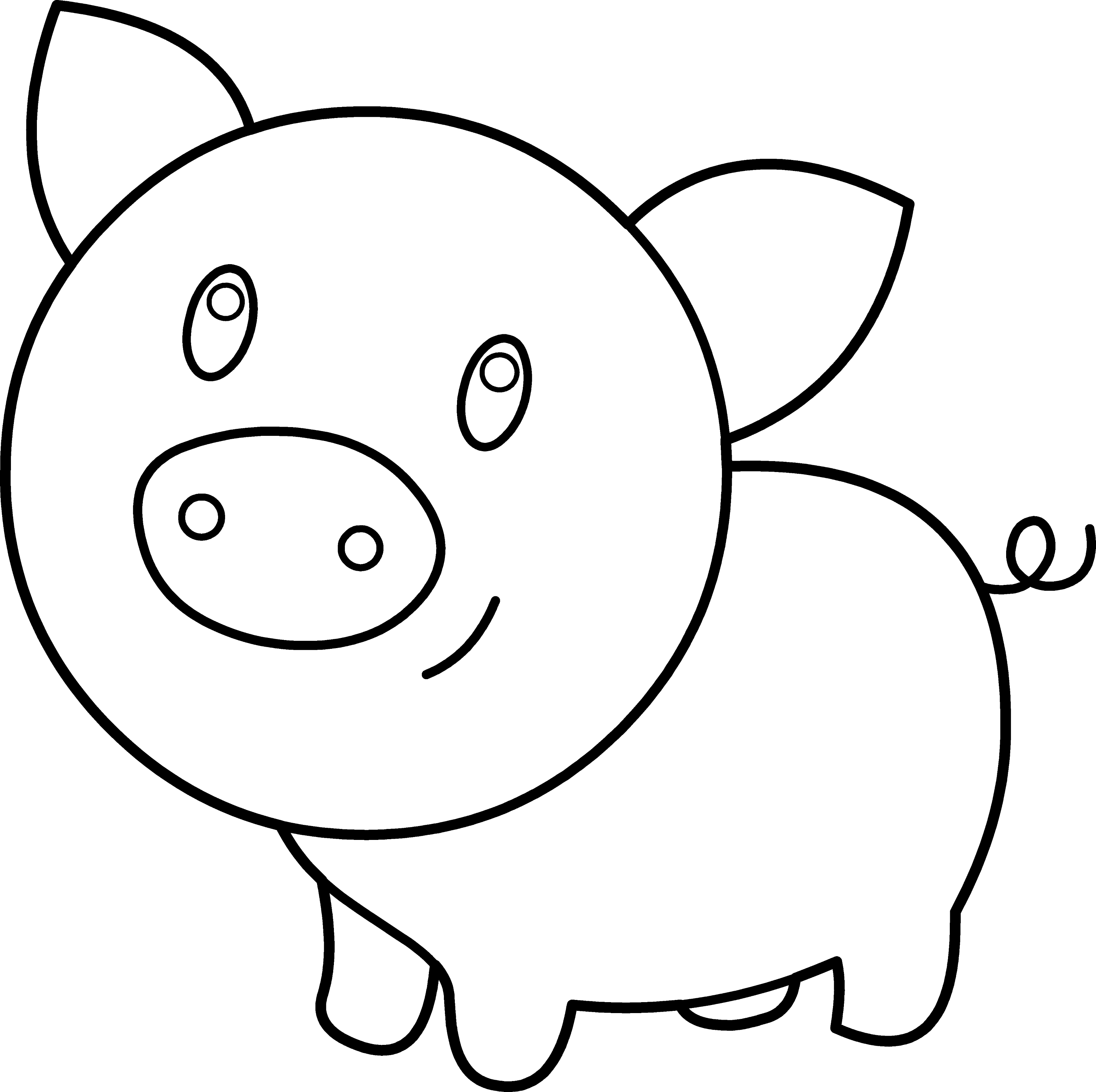 baby animal outlines cute pig coloring page free clip art outlines baby animal
