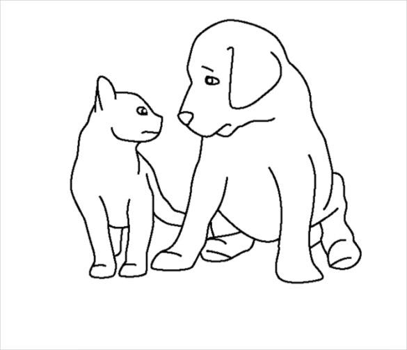 baby animal outlines felidae line art drawing baby tigers coloring book black animal outlines baby