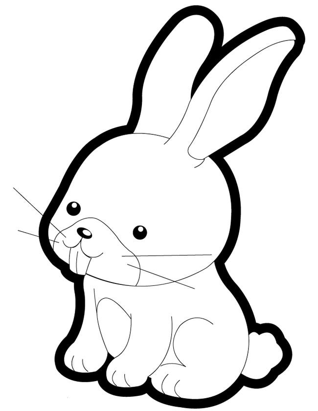 baby animal outlines larger preview vector clip art of a lineart cute sitting outlines baby animal