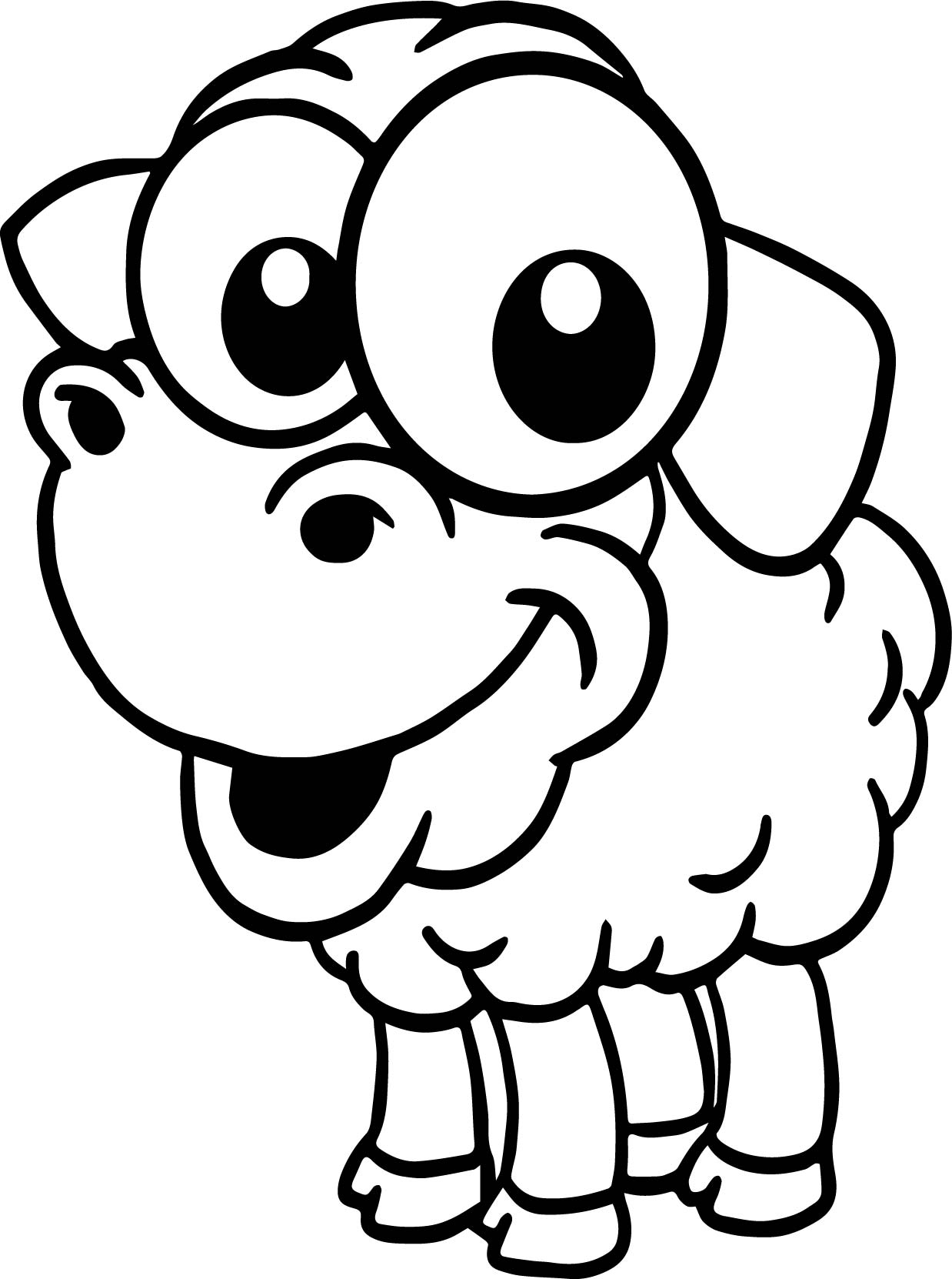 baby animals colouring pages baby farm sheep animal cartoon coloring page pages animals colouring baby