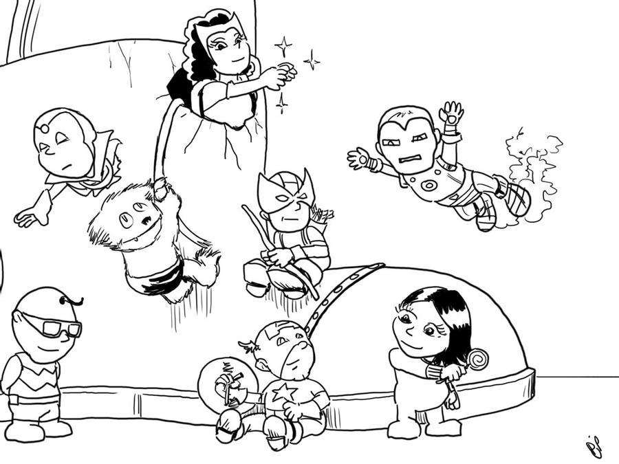 baby avengers coloring pages coloring to print famous characters lego number 45165 avengers baby coloring pages