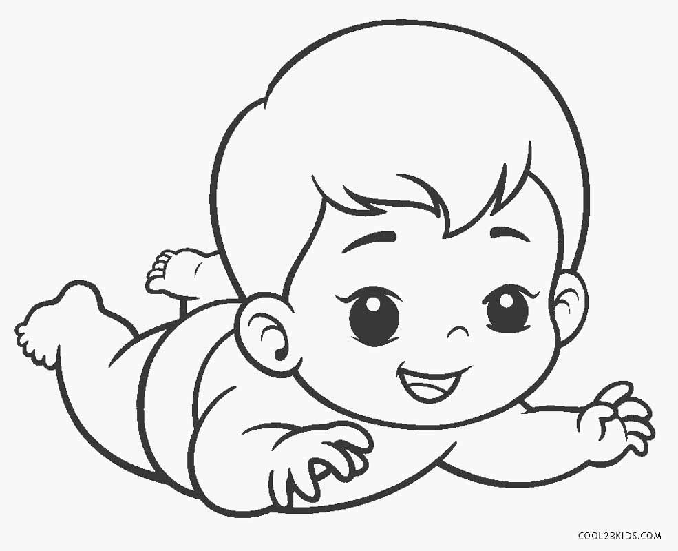 baby coloring sheets baby coloring pages educative printable sheets baby coloring