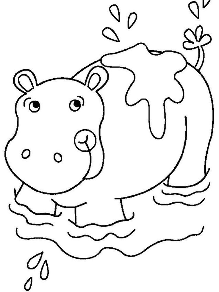 baby hippo coloring pages baby hippo coloring page for kids baby animal coloring coloring baby hippo pages