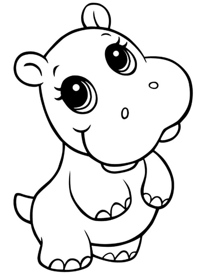 baby hippo coloring pages cute baby hippo coloring pages coloring baby pages hippo
