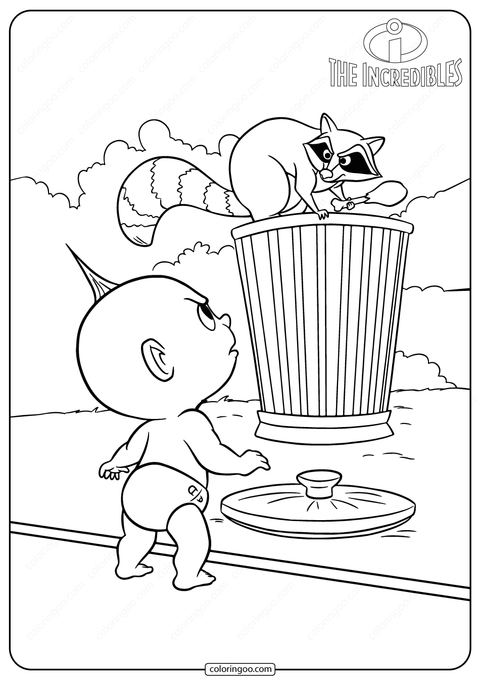 baby jack jack coloring page baby jack jack incredibles coloring pages the parr family coloring jack page baby jack