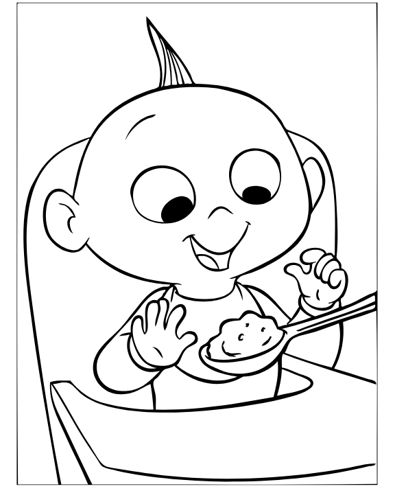 baby jack jack coloring page coloring page of the baby of the increbibles jack jack a page jack coloring baby jack