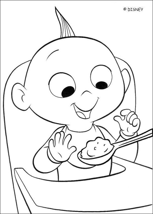 baby jack jack coloring page incredibles 2 coloring pages free printable coloring jack coloring jack page baby