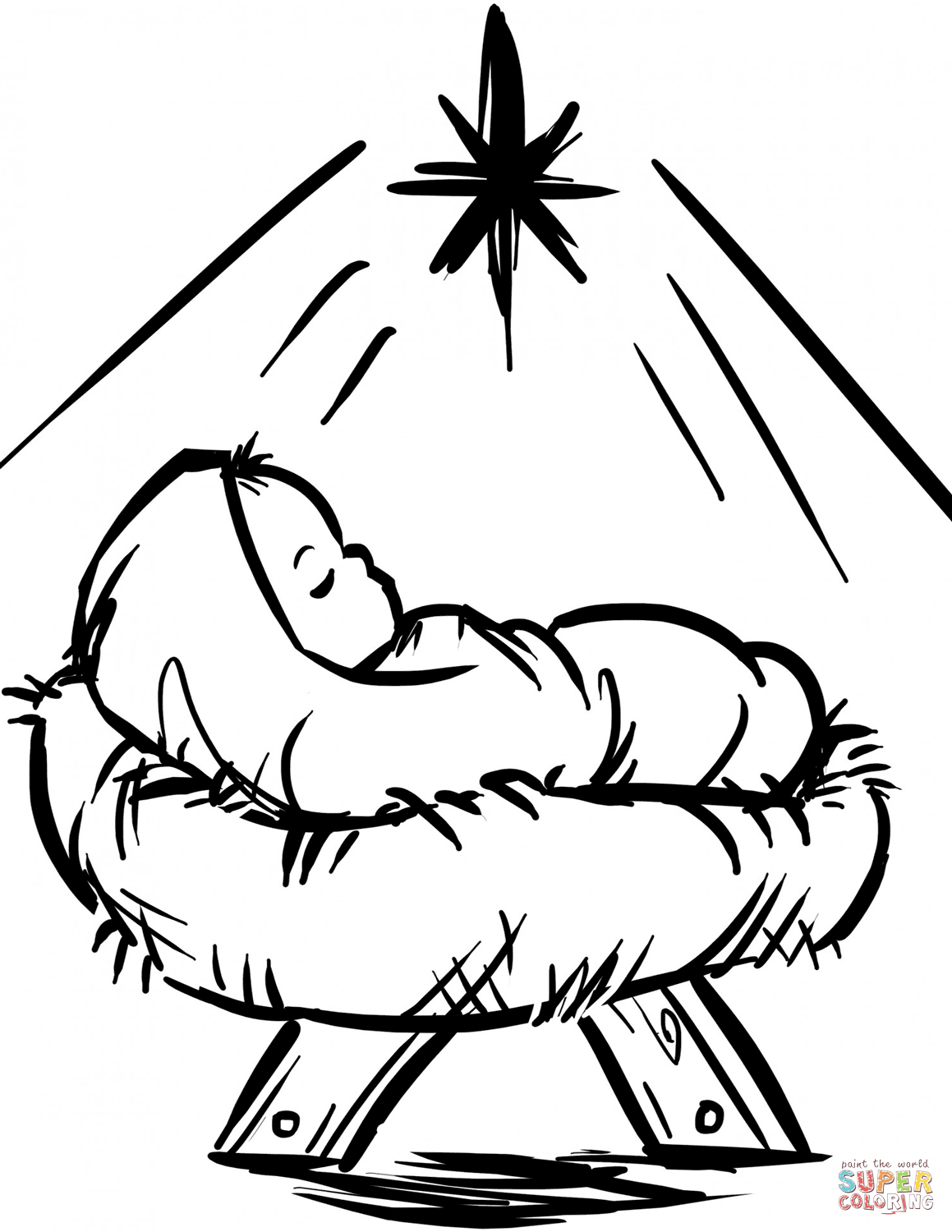baby jesus in a manger coloring pages baby jesus manger scene coloring page free printable baby jesus manger in coloring pages a