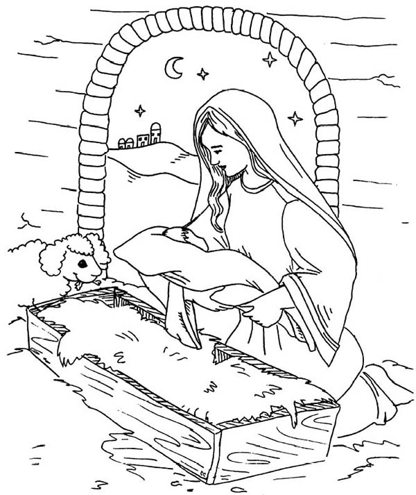 baby jesus in a manger coloring pages coloring pictures of baby jesus in a manger coloring pages in a baby coloring jesus manger pages