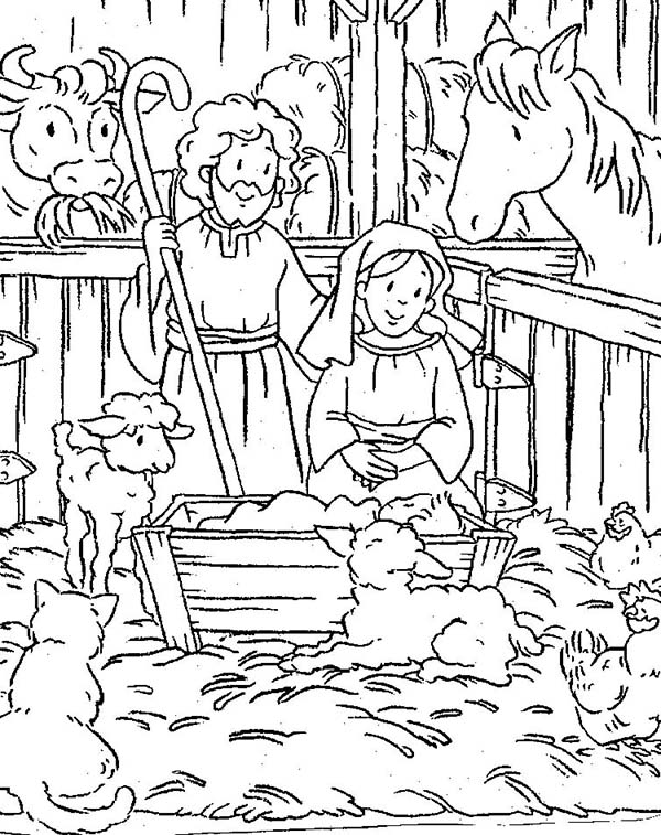 baby jesus in a manger coloring pages nativity of baby jesus in a manger coloring page kids coloring baby pages a in jesus manger