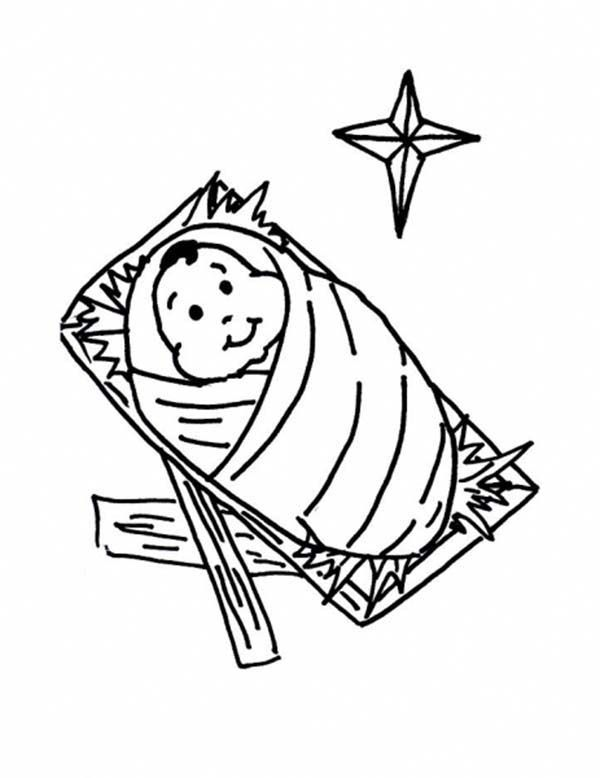 baby jesus in a manger coloring pages picture nativity of baby jesus coloring page kids play color pages manger in a jesus coloring baby