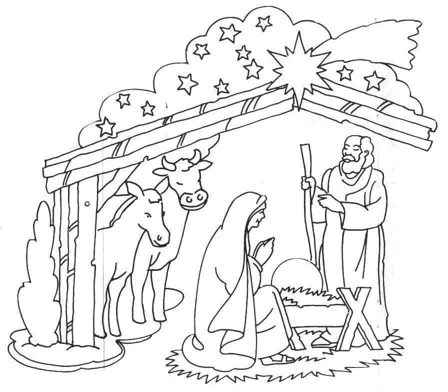 baby jesus in a manger coloring pages scenery of nativity in jesus christ coloring page color luna baby coloring in jesus pages a manger