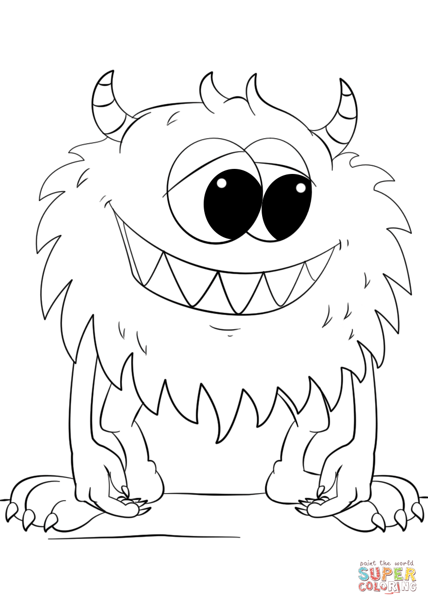 baby monster coloring pages cute cartoon monster coloring page free printable monster coloring baby pages