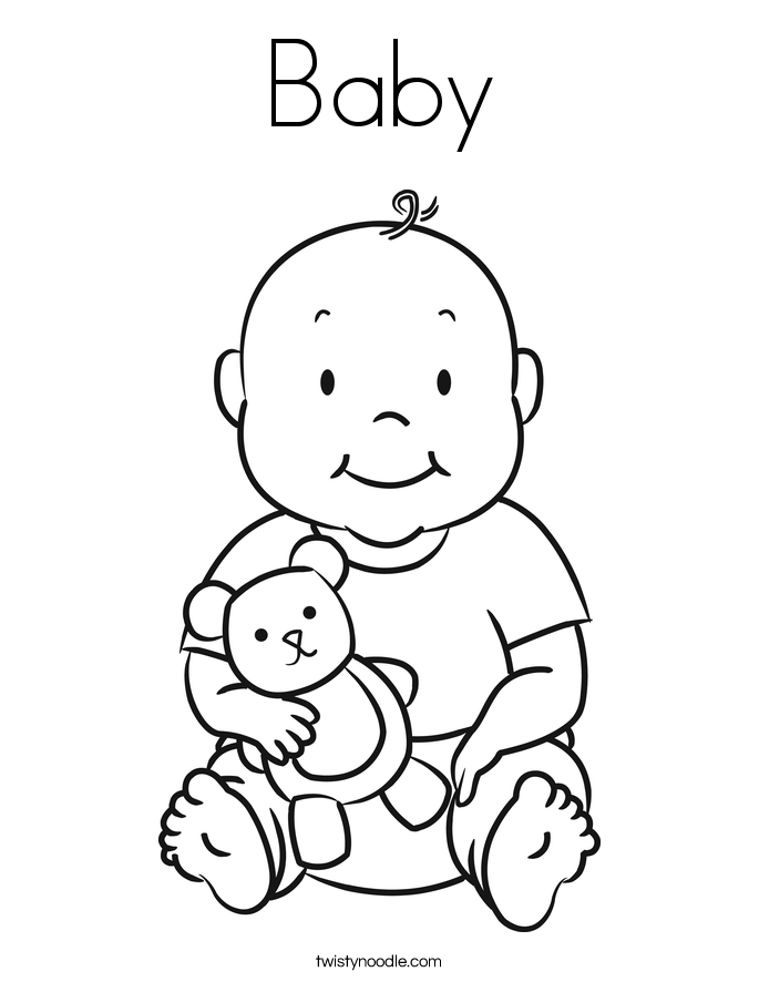 baby pictures coloring pages free printable baby coloring pages for kids pages coloring pictures baby