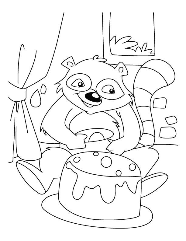 baby raccoon coloring page baby raccoon coloring pages coloring home baby coloring page raccoon