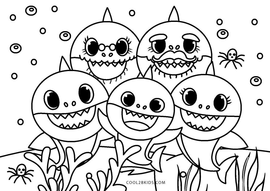 baby shark coloring pages 10 best free printable baby shark coloring pages for kids coloring shark baby pages