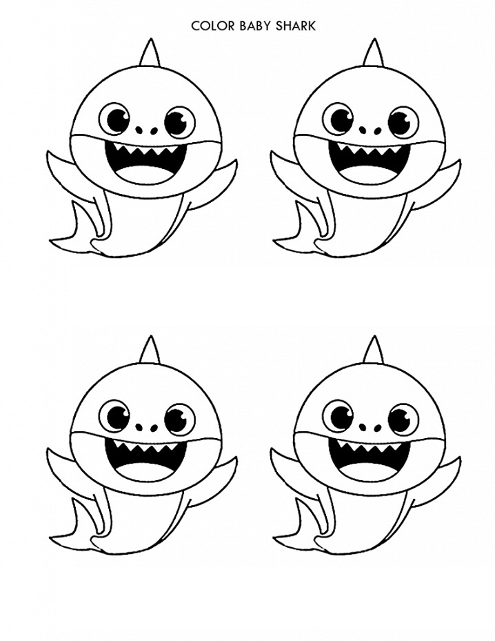 baby shark coloring pages baby shark coloring for kids get coloring pages shark pages baby coloring