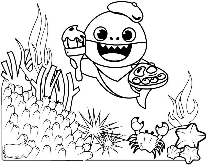 baby shark coloring pages funny baby shark coloring page for free mitraland shark pages baby coloring