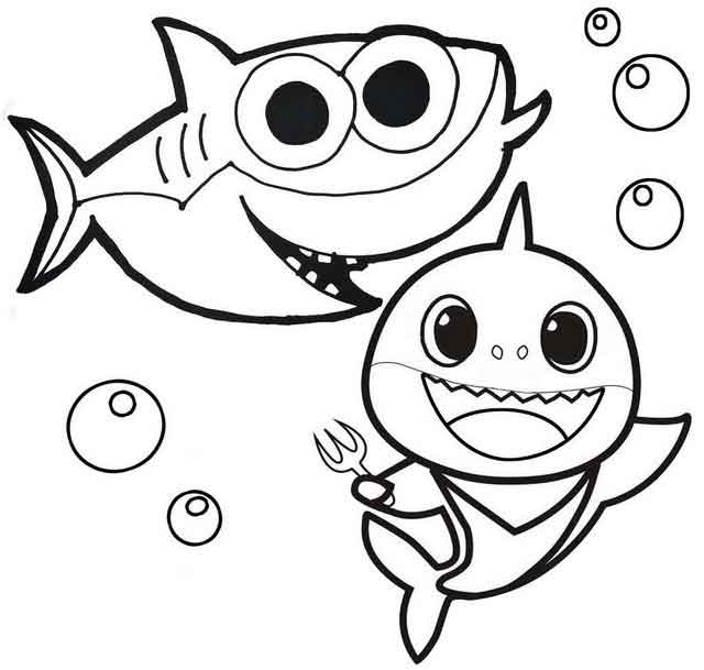 baby shark coloring pages pinkfong baby shark my first big book of coloring book baby shark pages coloring