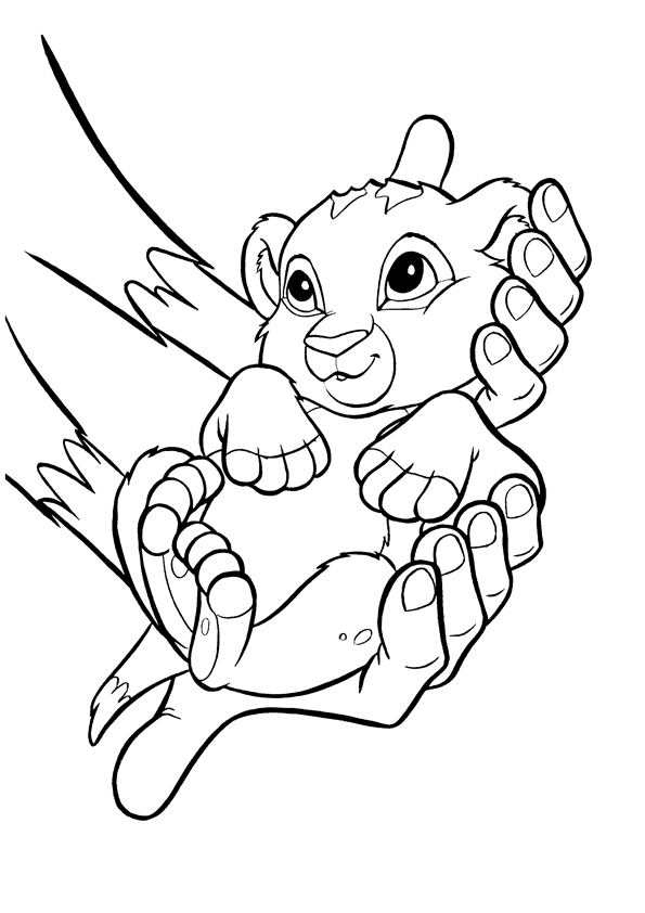 baby simba coloring pages baby simba coloring pages at getcoloringscom free pages coloring simba baby