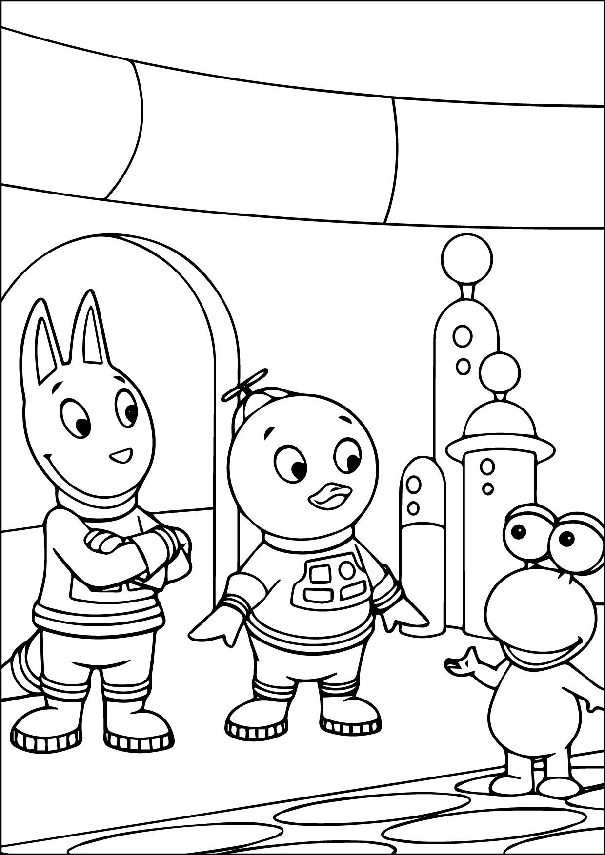 backyardigans coloring pages cool backyardigans of color 06 09 2015234451 check more pages coloring backyardigans