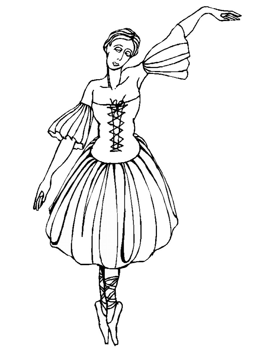 ballerina to color ballerina coloring pages for childrens printable for free to color ballerina