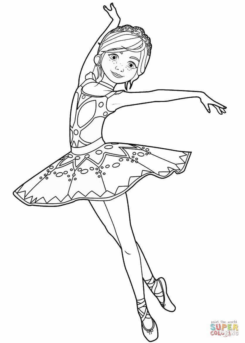 ballerina to color félicie milliner from ballerina movie coloring page free ballerina color to