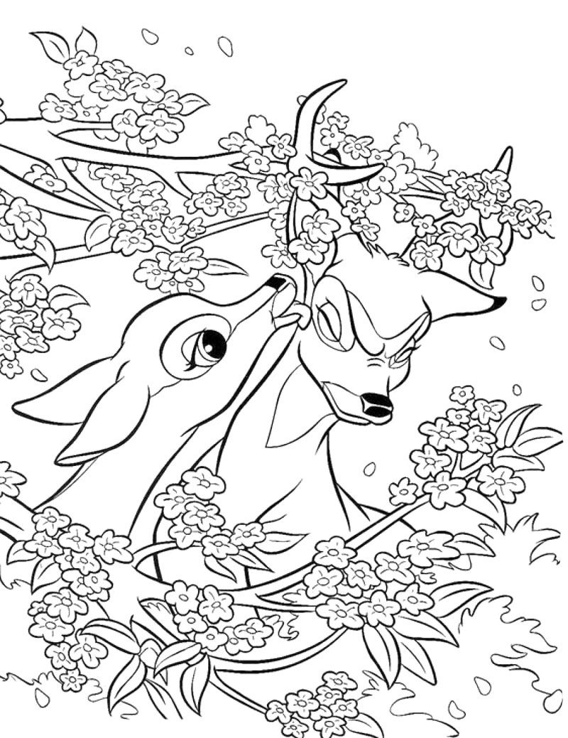 bambi and faline coloring pages bambi and faline love each other coloring pages bulk faline pages bambi and coloring