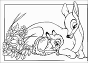 bambi and faline coloring pages bambi faline and thumper coloring page free printable coloring faline pages and bambi