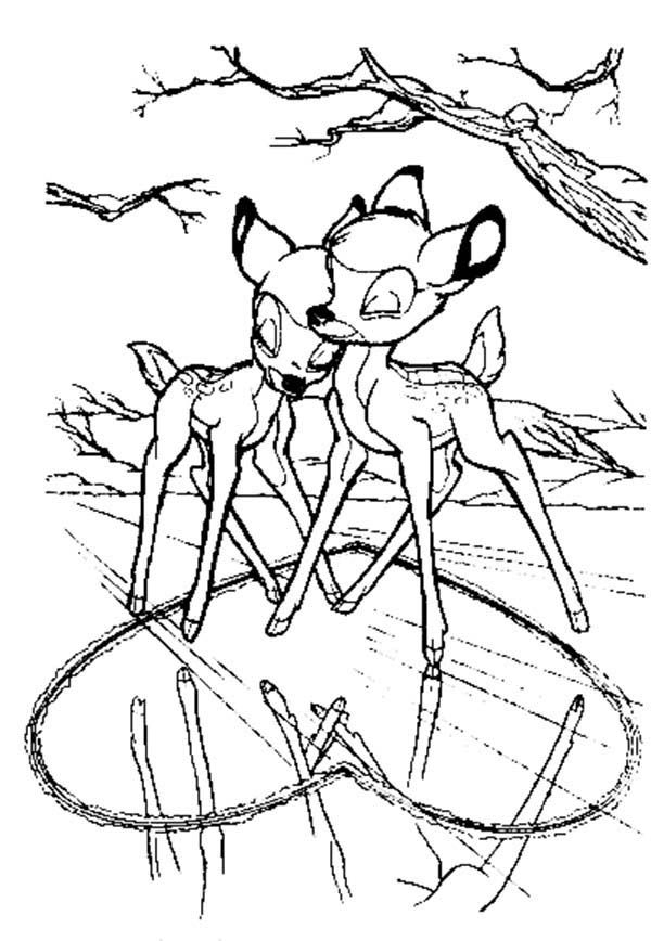 bambi and faline coloring pages faline bambi and thumper coloring page free printable faline pages bambi coloring and