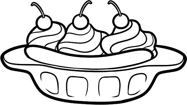 banana split coloring page banana split coloring page coloring home coloring banana split page