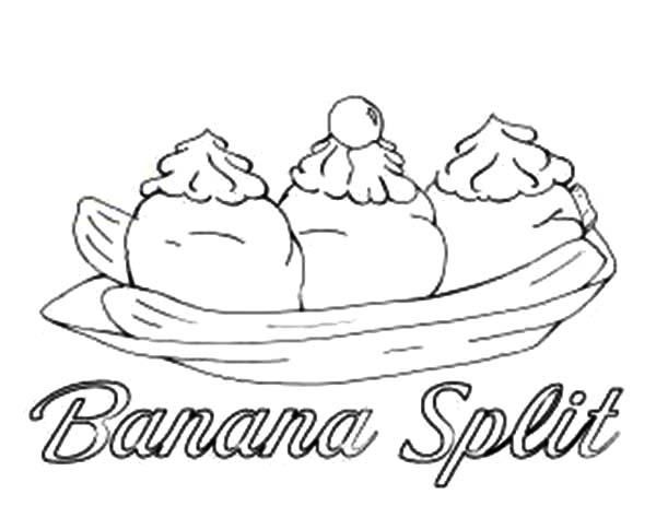 banana split coloring page banana split coloring page coloring home coloring banana split page 1 1